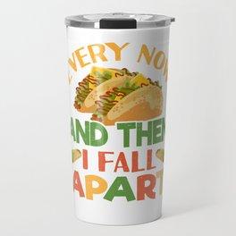 Taco Funny Mexican Food Feista Cinco De Mayo Travel Mug