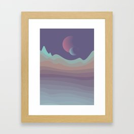 last planet Framed Art Print
