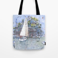 La Citta' sul mare Tote Bag