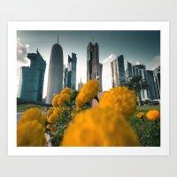 doha skyline Art Print