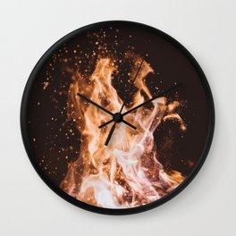 Fire I - Summer Campfire Wall Clock
