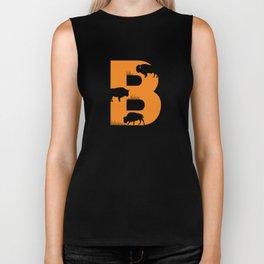 B is for Bison - Animal Alphabet Series Biker Tank