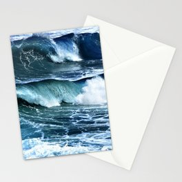 Deep Blue Waves Stationery Cards