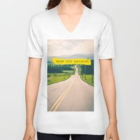 never stop exploring V-neck T-shirts featuring Never stop exploring by Ale Ibanez