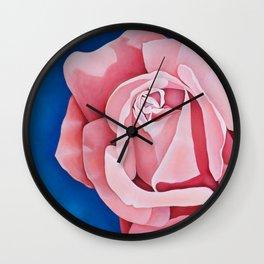 Perfume Delight - Pink Tea Rose Art Wall Clock