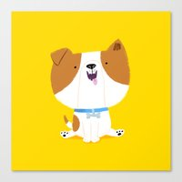 puppy Canvas Prints featuring Puppy by Chris Chatterton