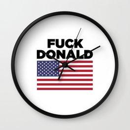 Fuck Donald Wall Clock