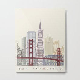 San Francisco skyline poster Metal Print