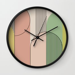 Abstract Arches I Wall Clock