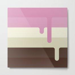 Dripping Neapolitan Ice Cream Metal Print