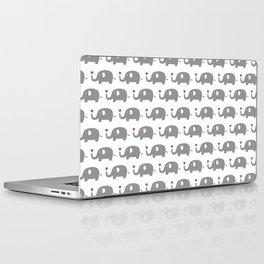 Elephants in love (white) Laptop & iPad Skin