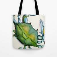 crab Tote Bags featuring Crab by Dylan Morang
