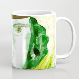 Green Girl Coffee Mug
