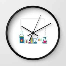 Chemistry is Just like Cooking Don't Lick Spoon T-Shirt Wall Clock