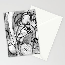 Abstract Nude Goddess No. 40K by Kathy Morton Stanion Stationery Cards