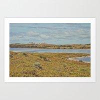 Lighthouse and Lakes Art Print