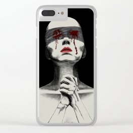 Pray for your sin Clear iPhone Case