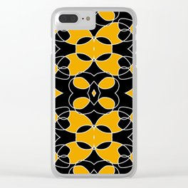 Dichromatic Black and Yellow Pattern Bat Clear iPhone Case
