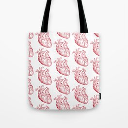 human heart pattern Tote Bag