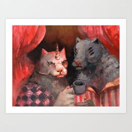 gay wolves ?? Art Print