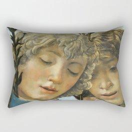 Sandro Botticelli - Angels 1. detail Rectangular Pillow