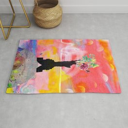 Lady Liberty Floral Collage Rug