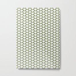 TMNT - Donatello and Leatherhead Pattern Metal Print