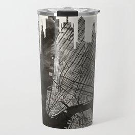 New York Skyline + Map #3 Travel Mug