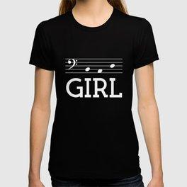 Bad girl (bass clef, dark colors) T-shirt