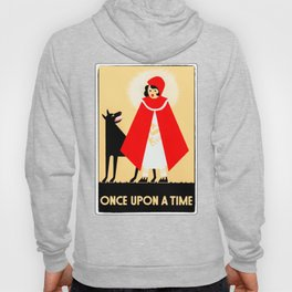 Little Red Riding Hood And The Big Bad Wolf - Classic Fairy Tale Poster Hoody