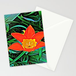 Flower of Enchanted Orange Flow Stationery Cards