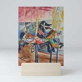 Carousel horses Mini Art Print