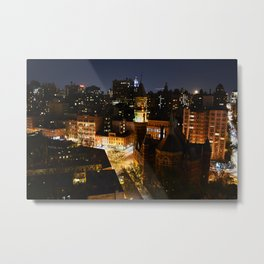 Moon Rising Over East Villiage, NYC Metal Print