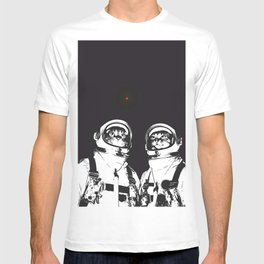 astronaut cats T-shirt