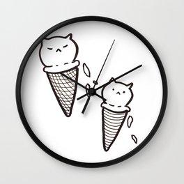 Cat Ice Cream Wall Clock