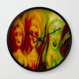 3 ladies F Wall Clock