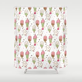 Yummy Ice Cream Pattern Shower Curtain