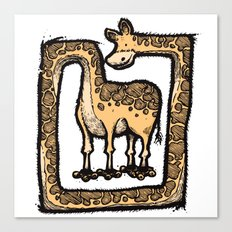 Square Giraffe Canvas Print