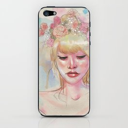 Watercolors and Floral Crowns iPhone Skin