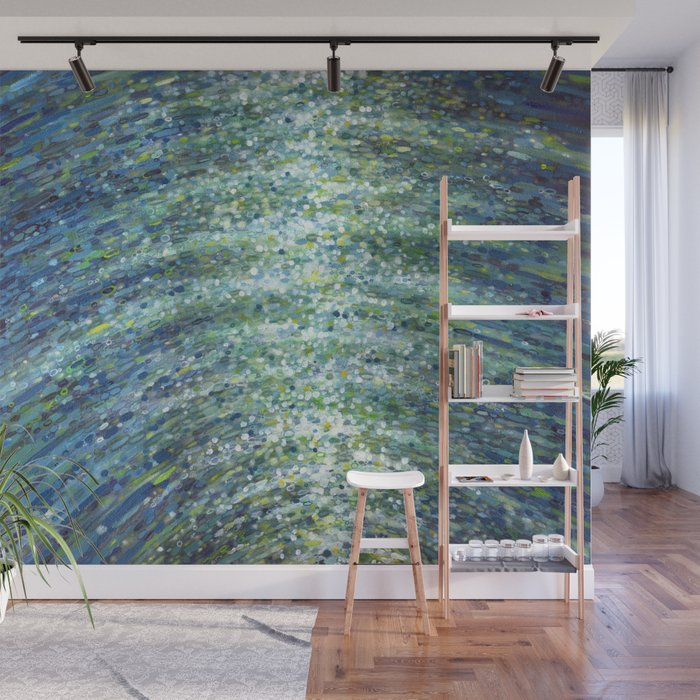 Shimmerin Ocean Wave Reflections Wall Mural
