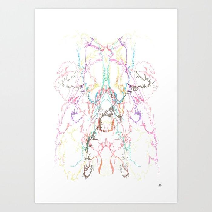 Exploading dancer Art Print