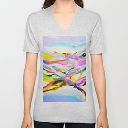 Coastal Color Abstract Unisex V-Neck