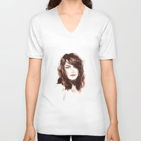 bambi V-neck T-shirts featuring Bambi by Esther Kang