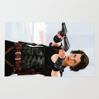 resident evil Area & Throw Rugs featuring Milla Jovovich @ Resident Evil by Gabriel T Toro