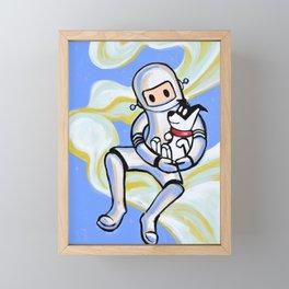 All dogs go to heaven. Framed Mini Art Print