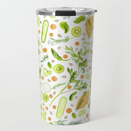 Fruits and vegetables pattern (20) Travel Mug