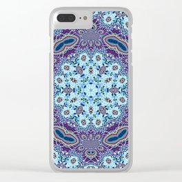 Modern Traditional Lacey Mandala Clear iPhone Case