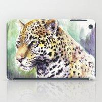 jaguar iPad Cases featuring Jaguar by Juan Pablo Cortes