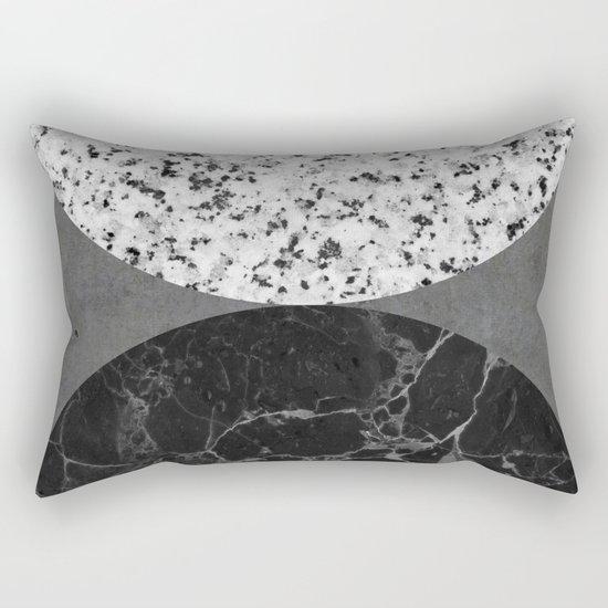 Marble, Granite, Concrete Abstract Rectangular Pillow