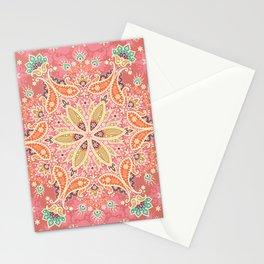 Paisly mandala hand drawn illustration pattern. Hand drawn painting ethnic background. Stationery Cards